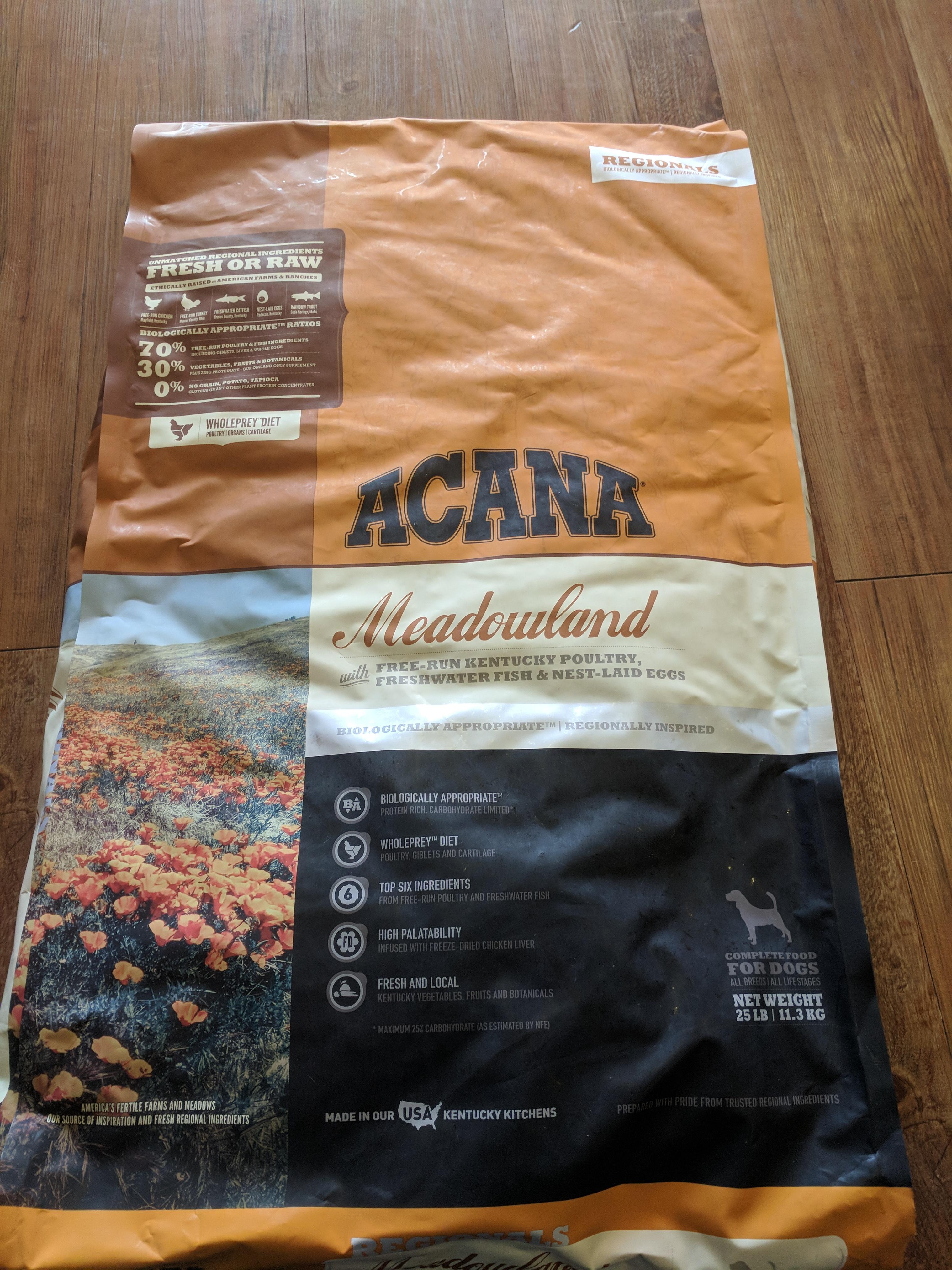 Acana Meadowland Grain Free Dry Dog Food