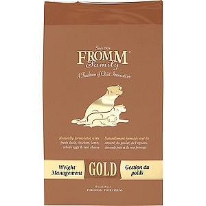Fromm Gold Weight Management Dry Dog Food 15 lbs
