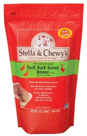 Stella & Chewy Duck Frozen Dog 6 lb 12ct